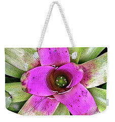 Weekender Tote Bag featuring the photograph Bromeliad by Allen Beatty