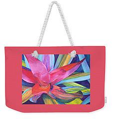 Bromeliad Pink Weekender Tote Bag