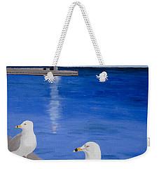 Bronte Lighthouse Gulls In Oil Weekender Tote Bag