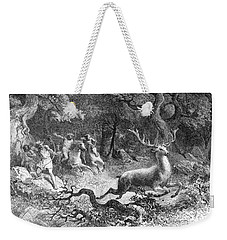 Weekender Tote Bag featuring the photograph Bronze Age, Hunting Scene by British Library