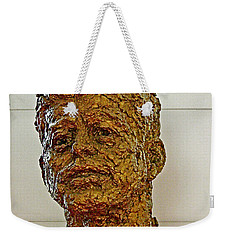 Bronze Sculpture Of President Kennedy In The Kennedy Center In Washington D C  Weekender Tote Bag by Ruth Hager