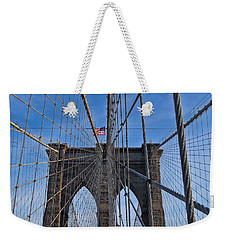 Weekender Tote Bag featuring the photograph Brooklyn Bridge by David Gleeson