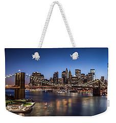 Brooklyn Bridge Weekender Tote Bag by Mihai Andritoiu
