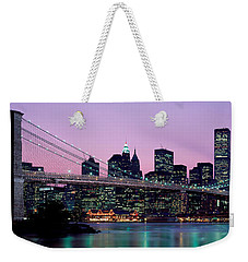 Brooklyn Bridge New York Ny Usa Weekender Tote Bag