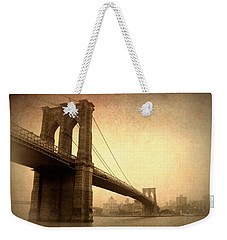 Brooklyn Bridge Nostalgia II Weekender Tote Bag