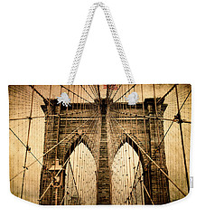 Brooklyn Bridge Nostalgia Weekender Tote Bag