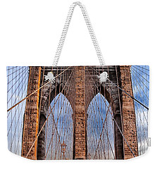 Weekender Tote Bag featuring the photograph Brooklyn Bridge by Paul Fearn