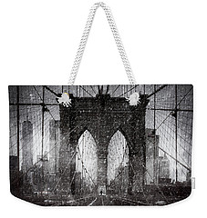 Brooklyn Bridge Snow Day Weekender Tote Bag
