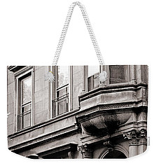 Brooklyn Heights -  N Y C - Classic Building And Bike Weekender Tote Bag