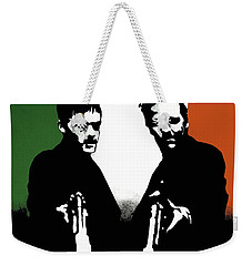 Weekender Tote Bag featuring the painting Brothers Killers And Saints by Dale Loos Jr