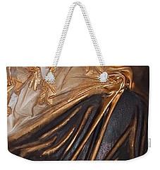 Brown And Gold Weekender Tote Bag