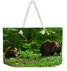 Brown Bears - Beechwood Weekender Tote Bag by Phil Banks