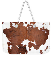 Brown Cowhide Weekender Tote Bag