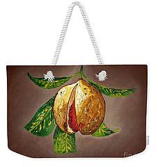 Brown Glow Nutmeg Weekender Tote Bag by Laura Forde