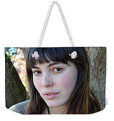 Brown Haired And Freckle Faced Natural Beauty Model Xiv Weekender Tote Bag by Jim Fitzpatrick