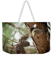 Brown Headed Nuthatch Weekender Tote Bag by Linda Unger