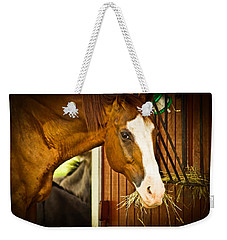 Brown Horse Weekender Tote Bag by Joann Copeland-Paul