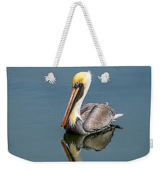Brown Pelican Reflection Weekender Tote Bag