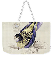 Browns Parakeet Weekender Tote Bag by Edward Lear