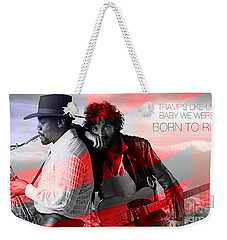 Bruce Springsteen Weekender Tote Bag by Marvin Blaine