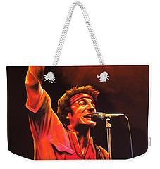 Bruce Springsteen Painting Weekender Tote Bag by Paul Meijering