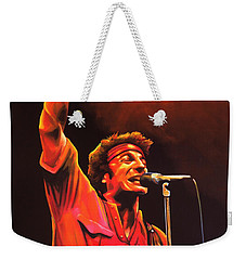 Bruce Springsteen Painting Weekender Tote Bag by Paul Meijering