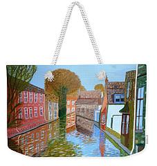 Brugge Canal Weekender Tote Bag by Magdalena Frohnsdorff