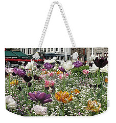 Weekender Tote Bag featuring the photograph Brugge In Spring by Ausra Huntington nee Paulauskaite