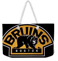 Bruins In Boston Weekender Tote Bag by Caroline Stella