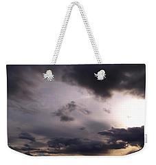 Brushing A Sunset Weekender Tote Bag