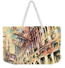 Brussels Grand Place - Watercolor Weekender Tote Bag