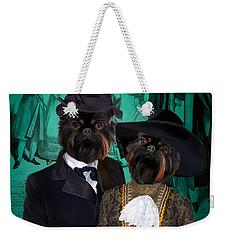 Brussels Griffon - Griffon Bruxellois Art Canvas Print Weekender Tote Bag by Sandra Sij