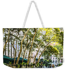 Bryant Park Midtown New York Usa Weekender Tote Bag by Liz Leyden
