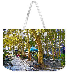 Bryant Park October Weekender Tote Bag by Liz Leyden