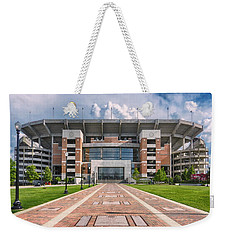 Weekender Tote Bag featuring the photograph Bryant Denny Stadium by Ben Shields