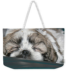 Weekender Tote Bag featuring the photograph Bubba by EricaMaxine  Price