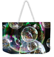 Weekender Tote Bag featuring the photograph Bubbles And More Bubbles by Nareeta Martin