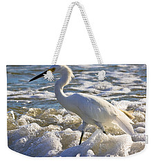 Bubbles Around Snowy Egret Weekender Tote Bag