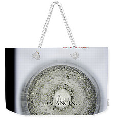Weekender Tote Bag featuring the photograph Bubbles Balance Bubbles by Vicki Ferrari