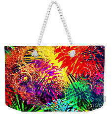 Weekender Tote Bag featuring the photograph Bubbles by Geraldine DeBoer