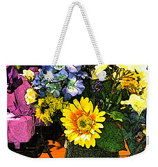 Bucket Of Flowers Weekender Tote Bag