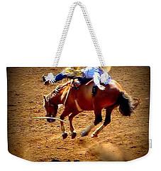 Bucking Broncos Rodeo Time Weekender Tote Bag by Susan Garren