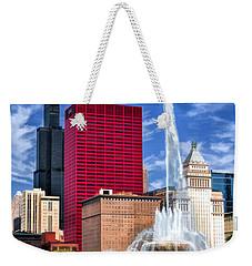 Buckingham Fountain Sears Tower Weekender Tote Bag