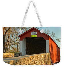 Bucks County Van Sant Covered Bridge Weekender Tote Bag