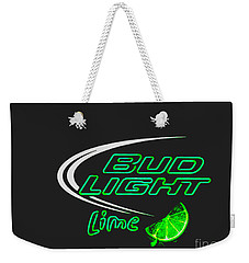 Weekender Tote Bag featuring the photograph Bud Light Lime 2 by Kelly Awad