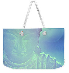 Weekender Tote Bag featuring the photograph Buddah Bokeh by Cindy Greenstein
