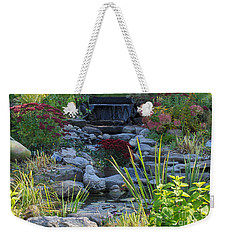 Weekender Tote Bag featuring the photograph Buddha Water Pond by Brenda Brown