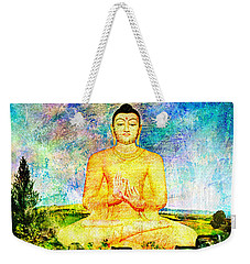 Buddha Weekender Tote Bag by Ally  White