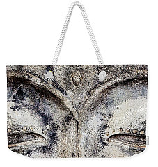 Weekender Tote Bag featuring the photograph Buddha Eyes by Roselynne Broussard