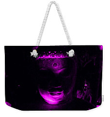 Buddha Reflecting Purple Weekender Tote Bag by Linda Prewer